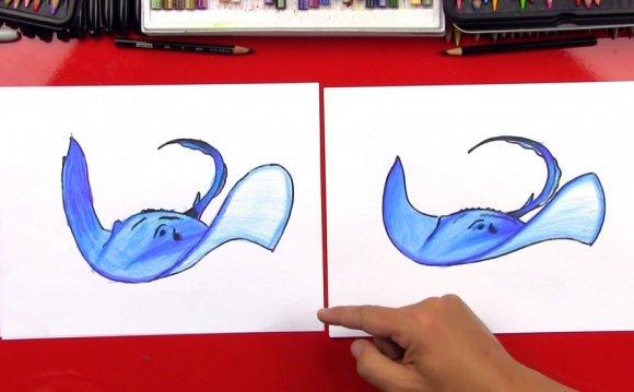 How To Draw A Stingray