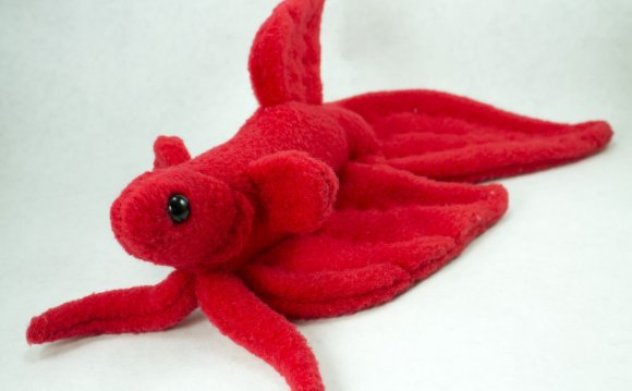 Red Veil Tail Betta Plush by
